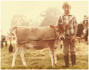 Oliver at Alresford Show 1981 with Hiltonbury Intenso